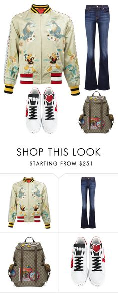 """""""sneakers"""" by im-karla-with-a-k ❤ liked on Polyvore featuring Gucci, 7 For All Mankind and Dolce&Gabbana"""