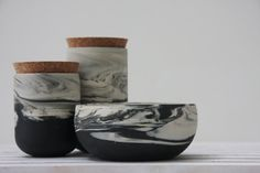 marbled ceramics