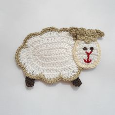Crocheted Applique Sheep Supplies for baby clothing or Nursery 1pcs