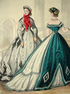 Petit Courrier des Dames Fashion Plate by YeOldeOverstuffedApt
