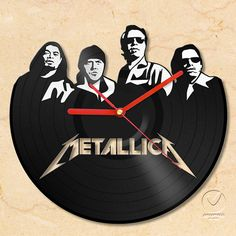 vinyl wall clock  Metallica by Anantalo on Etsy, ฿1490.00