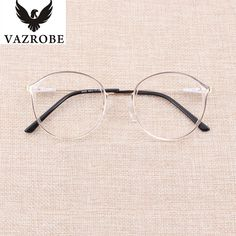 Vazrobe Transparent Glasses Frame Women TR90 Rim+Alloy Temple Clear Eyeglasses Frames for Female Spectacles Prescription Fashion