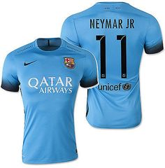 cad3a2f7cf7 NIKE NEYMAR JR. FC BARCELONA AUTHENTIC THIRD NIGHT RISING MATCH JERSEY 2015  16.