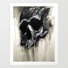 Skull Art Print by Robin Persson - $20.00