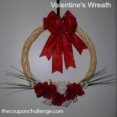 Homemade Valentines Wreath - Spend Under $10!