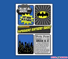 Batman birthday invitation chalkboard chevron pattern batman batman birthday party printable invitation instant download you edit yourself with adobe reader solutioingenieria Choice Image