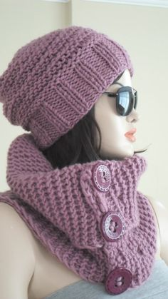 Womens Hat Knit Womens Scarf Womens Accessories by Scarf4you