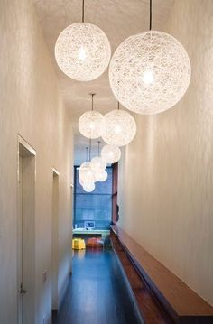 These lamps for lounge/study - I like the idea of offsetting the lighting