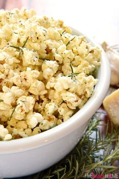 Parmesan Popcorn - a great snack as you watch your favorite movie or TV show. | Healthy, Yummy & Easy Homemade Food Perfect for Picky Eaters.