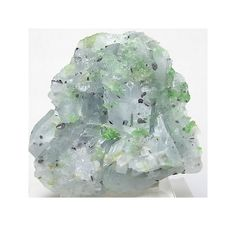 Gemmy Green Diopside in Blue Calcite with tiny Graphite Crystals Mineral Specimen Raw Natural Gemstone from Mogok