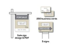 CHEAP Custom Realtor Real Estate Starter package OPEN house signs, For Sale Sign, business cards keller williams agent century 21 remax Era Real Estate Sign Design, Real Estate Signs, Real Estate Branding, Open House Signs, For Sale Sign, Sample Resume, Business Cards, Packaging, Letters