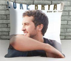 Luke Bryan pillow case size 18 x 18 inch two side