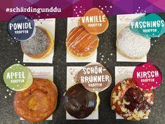 #faschingskrapfen #fasching #krapfen #schärding #schärdingunddu Donuts, Confectionery, Muffin, Breakfast, Food, Cake Shop, Cherries, Apple, Food And Drinks