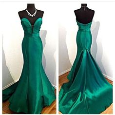 Elegant Ladies Evening Dresses Emerald Green Mermaid Prom Dress 2017 Noite Vestidos Para O Casamento