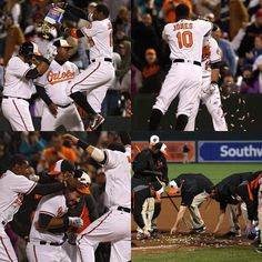 The story of a walk-off, in 4 photos. Baltimore Orioles walk off win 5/5/2016