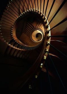 Chocolate spiral staircase
