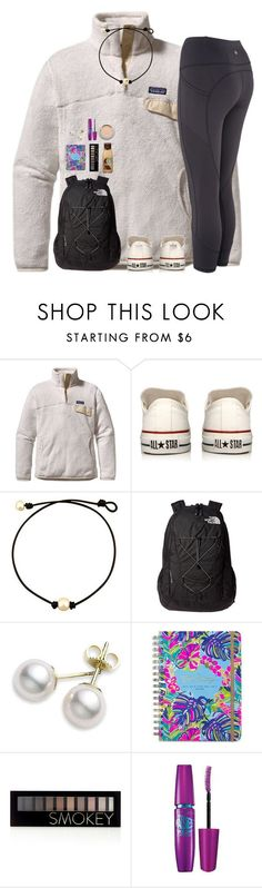 """My Ootd!! rtd for life update"" by cora-g77 ❤ liked on Polyvore featuring Patagonia, Converse, The North Face, Mikimoto, Lilly Pulitzer, Forever 21, Maybelline and L'Oréal Paris"
