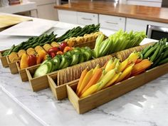 "Crudités: It's a fancy way of saying ""vegetable platter"" and a go-to for any party. But have you ever noticed that when you just dump a..."