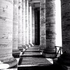 The columns of St. Peter's Square.