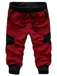 SoEnvy Men's Casual Harem Training Jogger Sport Short Baggy Pants X-Large Wine Red Material: cotton, 65 polyester Brand New with Tag High quality materials and stretchable,comfortable to wear Hand wash, Dry clean Fashionable design Best Joggers, Jogger Sweatpants, Casual Pants, Men Casual, Cargo Pants Men, Mens Activewear, Sport Shorts, Men Shorts, Fashion Brand