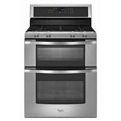Whirlpool�30-in 3.9-cu ft/2.1-cu ft Self-Cleaning Double Oven Gas Range (Stainless Steel)