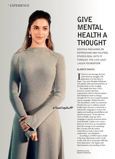 India Today: Deepika talks about depression & helping others deal with it through @TLLLFoundation.