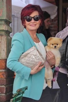Sharon Osbourne toted her teacup Pomeranian, Mr. Chips, after lunching with daughter Kelly Osbourne at The Ivy in West Hollywood, Calif., on April 7, 2013.RELATED: Best TMI tweets