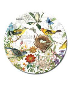 Love this Botanical Birds Lazy Susan by CounterArt on #zulily! #zulilyfinds   $13.99