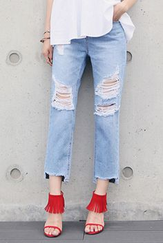 Shop here : sthsweet.com  #denim #dress #teen #cute #blue #style #chic #girl #street #skirt #jeans #staysassy