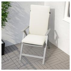 IKEA SJÄLLAND reclining chair, outdoor The back can be adjusted to six different positions.