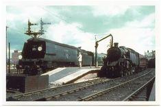 "34057 ""Biggin Hill"" and 30147 ""Dinard"" 80147 from Southampton Docks. Southern Trains, Uk Rail, Southern Railways, Merchant Navy, Steam Railway, Bullen, British Rail, Battle Of Britain, Bournemouth"