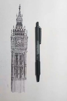 Big Ben And London Bus Typography Images Pinterest