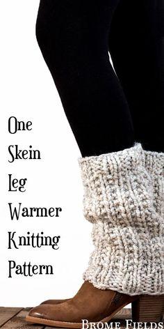 Knitting Patterns Leg Warmers One Skein Leg Warmer Knitting Pattern by Brome Fields Crochet Boots, Knit Or Crochet, Knitting Patterns Free, Knit Patterns, Leg Warmer Knitting Pattern, Free Knitting, Baby Hats Knitting, Knitting Socks, Baby Overall