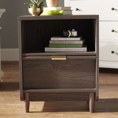 Perfect for my bedroom, Alsager 1 Drawer Nightstand. Found it at AllModern.