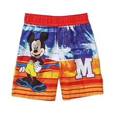 Disney Mickey Mouse Swim Trunks Bathing Suit Baby Boys 12 Months -- You can find out more details at the link of the image.