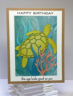Crafting While I Wait: Birthday Turtle