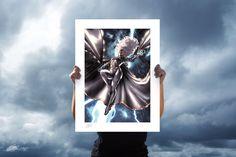 Storm Fine Art Print by Taurin Clarke | Sideshow Fine Art Prints Canvas Art Prints, Fine Art Prints, Embossed Seal, Marvel Comics Art, Sketchbook Pages, Sideshow Collectibles, Freelance Illustrator, Floating Frame, Captain Marvel