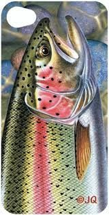 Skin for your iPhone by Bookmark Trenz - Trout Bass Fishing Shirts, Fly Fishing, Trout Fishing, Fishing Stuff, Fish Artwork, Fish Paintings, Trout Tattoo, Sunflower Quilts, Red Fish Blue Fish