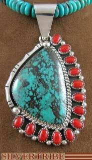 Native American Turquoise Jewelry | Navajo Indian Silver Native American Jewelry Coral and Turquoise Bead