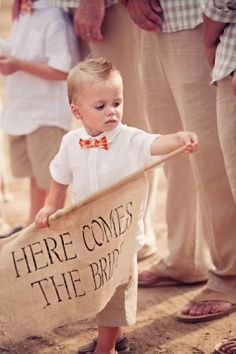 maybe the most adorable ring bearer ever? // photo by ClaytonAustinLove. Wedding Bells, Wedding Events, Our Wedding, Dream Wedding, Themed Weddings, Wedding Signs, Monsieur Madame, Page Boy, Here Comes The Bride