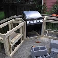 how to build an outdoor kitchen with wood frame with how to build an ...