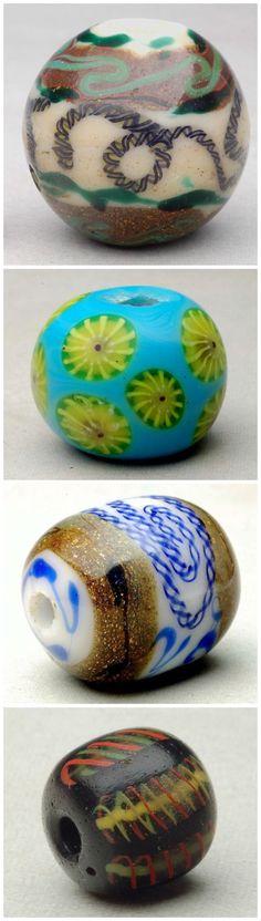 Edo and Meiji Period antique Japanese glass 'trade beads'.