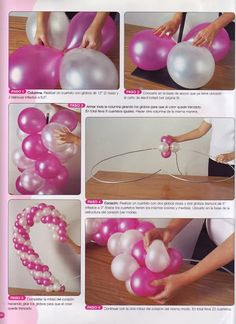 Do you love crafts? This is the perfect place for you, there are many magazines of any kind for free Ballon Arch, Deco Ballon, Balloon Columns, Balloon Garland, Diy Garland, Ballon Decorations, Birthday Party Decorations, Baby Shower Decorations, Deco Buffet
