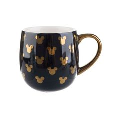 Disney Mickey Mouse Icons Porcelain Coffee Mug 16oz Gold - Formation Brands LLC : Target