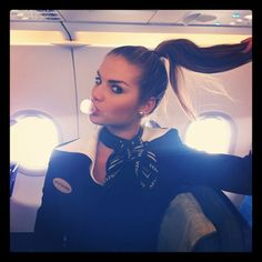 Aeroflot Stewardess (too cute)