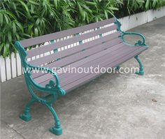 Outdoor wrought iron bench recycled plastic bench for park, View recycled plastic bench, Gavin Product Details from Guangzhou Gavin Urban Elements Co., Ltd. on Alibaba.com