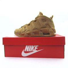 timeless design d0f39 2cb7b Nike Air More Uptempo SE 96 Size 6.5Y Flax Wheat Gum Brown GS 922845 200  New  Nike  BasketballShoes