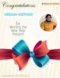 Neerav Kothari, the 1st winner