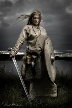 Hervor Hjörvard-A woman who went viking dressed as a man and  a became legandary weilder of the sword,Tyrfing.