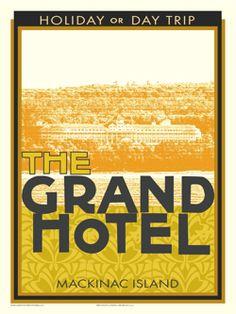 Grand Hotel, Mackinac Island, MI Vintage Inspired Travel Poster